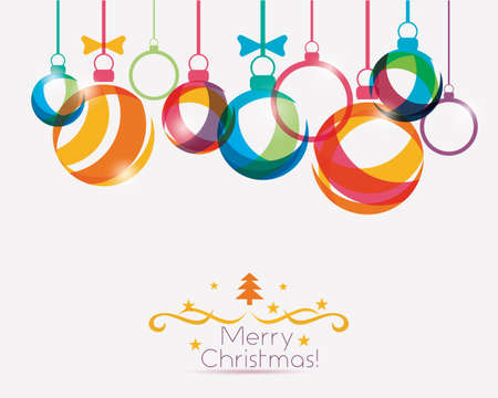 vibrant background: christmas balls background in vibrant style