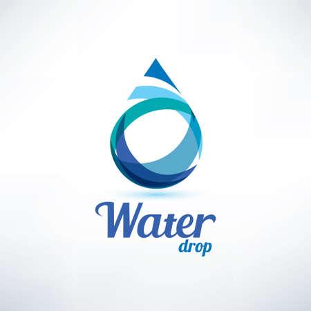 水のドロップのロゴのテンプレート、生態学および環境のコンセプト