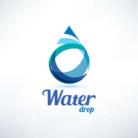water drop logo template, ecology and environment concept