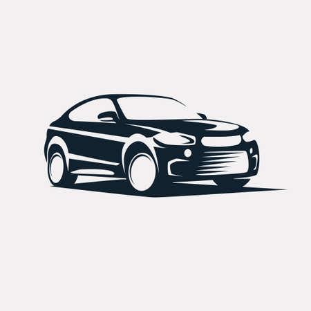 simbolo de coches, vector de la silueta estilizada