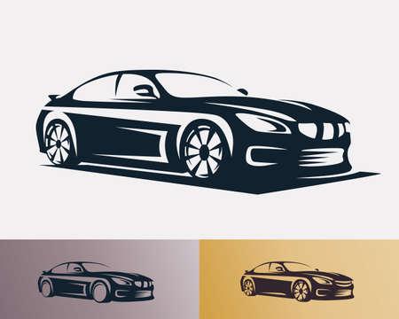 Raceauto symbool sjabloon, gestileerde vector silhouet Stockfoto - 67762589