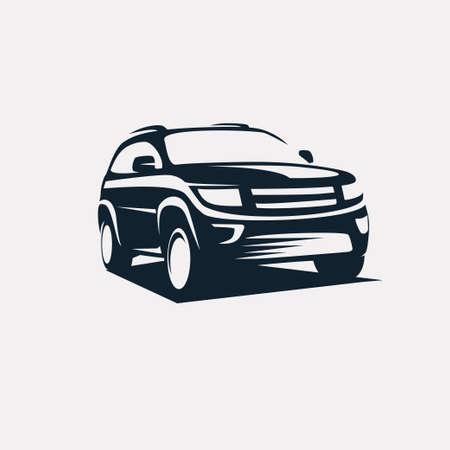 moderne SUV-Vorlage, offroader Auto stilisierte Vektor-Silhouette