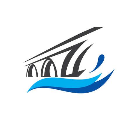 plantilla de logotipo de símbolo de puente