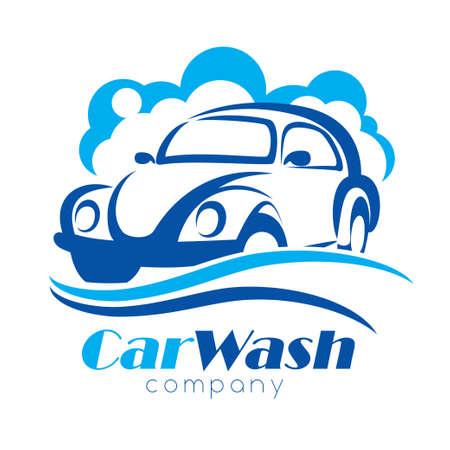 Autowasserette gestileerde vector symbool, ontwerpelementen voor logo sjabloon