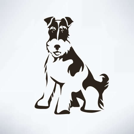 Fox terrier stylized vector silhouette