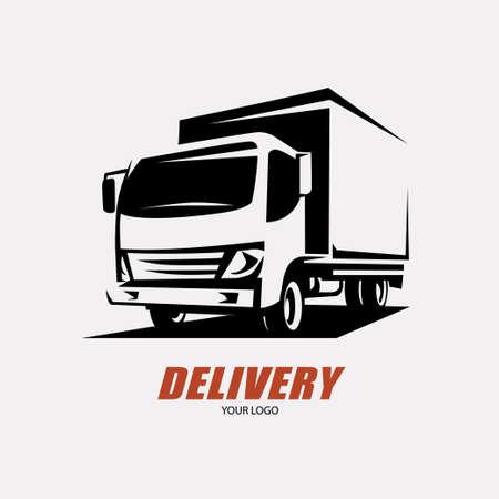 Verzend- en verzenddienst logo sjabloon, minivan gestileerde symbool Stockfoto - 84438750