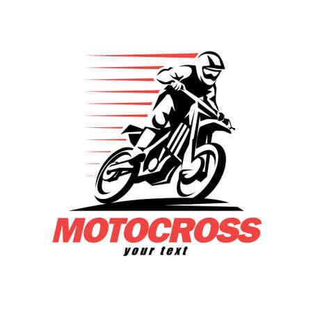 Symbole vectoriel stylisé en motocross, éléments de conception pour le logo Logo
