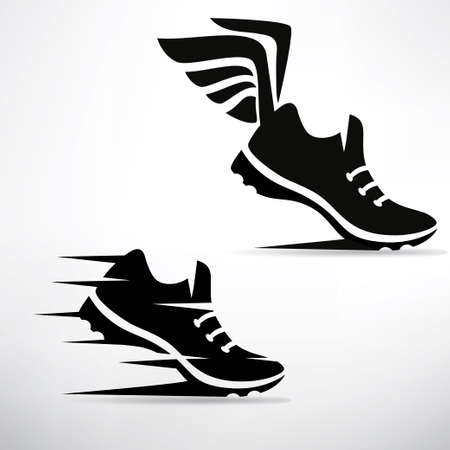 sneaker stylized vector symbol set