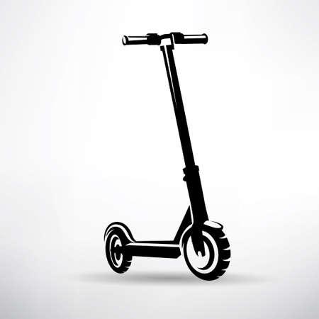 simbolo di vettore di scooter elettrico Vettoriali