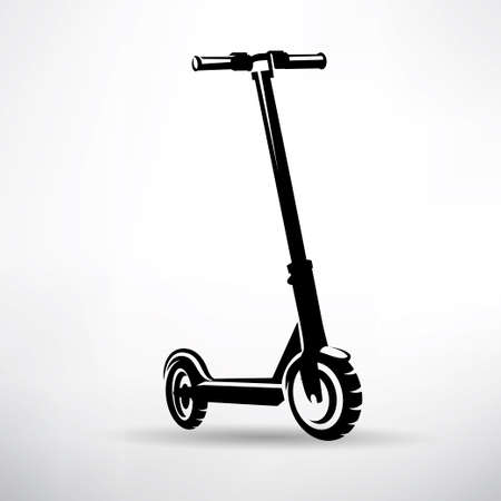 electric scooter vector symbol