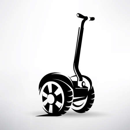 outlined vector symbol, electric scooter