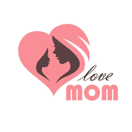 Description: Happy Mothers Day Greeting Card Template Stock Illustratie