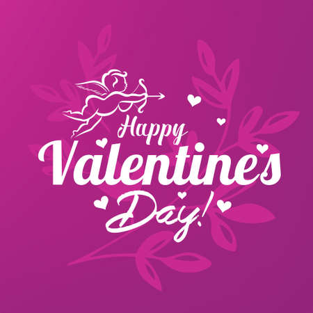 Valentines day card stylized vector template Stockfoto - 120385455