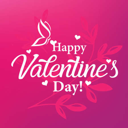 Valentines day card stylized vector template