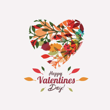 Valentines day greeting card background template, floral style