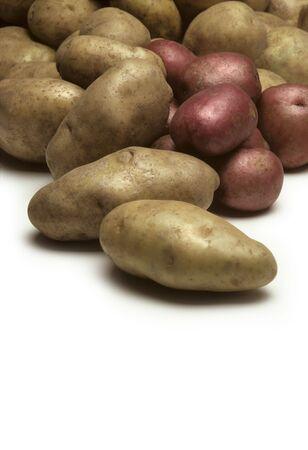 ジャガイモの様々 なタイプの山 写真素材 - 5865700