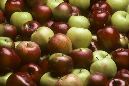 Mixtes de variétés de pommes, y compris rouge délicieux, MacIntosh, Fuji et Granny Smith  Banque d'images - 6132940