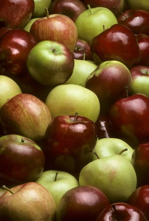 pomme: Pile of mixed varieties of apples Stock Photo