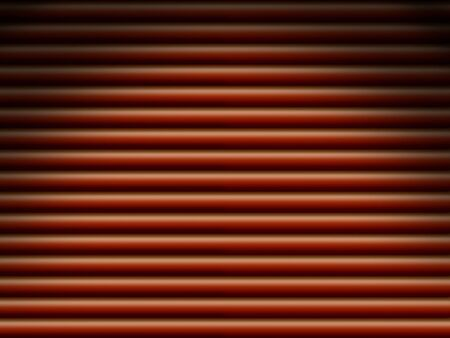 Red horizontal tube pipe background dramatically lit