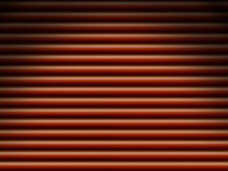 dramatically: Red horizontal tube pipe background dramatically lit