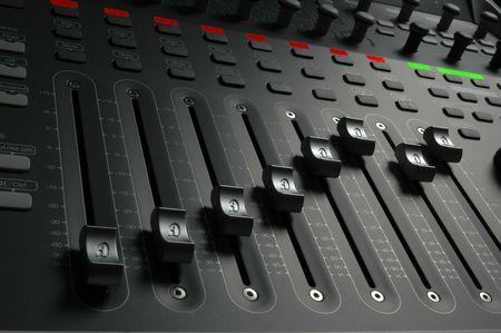sliders: Professional audio mixing board sliders