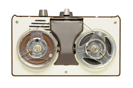 tape recorder: Vintage reel-to-reel tape recorder circa 1967 Stock Photo