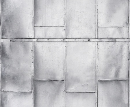 Metal panels on industrial door or wall seamlessly tileable