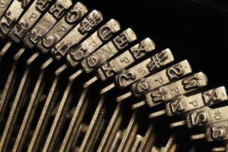 Close-up of the striking surface of old typewriter letter and symbol keys Reklamní fotografie