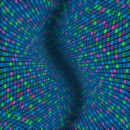 distort: Distorted abstract pattern of pastel blue, green and purple squares Stock Photo