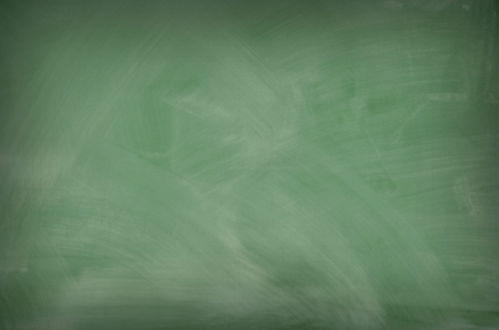 Green chalkboard with smeared chalk eraser marks