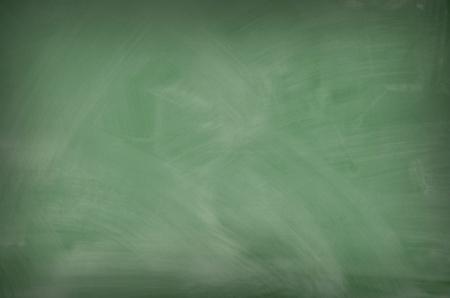 Green chalkboard with smeared chalk eraser marks