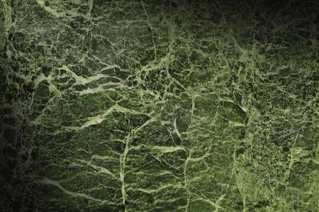 Green marble texture surface background lit diagonally Standard-Bild