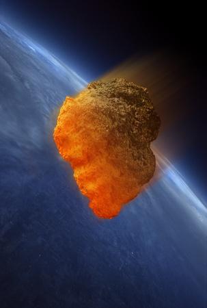 meteor: Meteorite Aufheizen, wie es in der Atmosph�re der Erde fallen. Die W�rme wird durch Reibung verursacht.