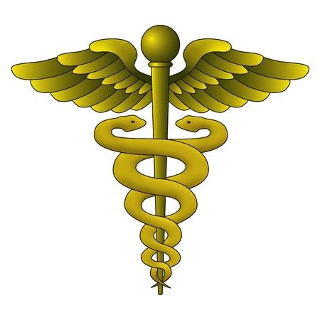 Caduceus Symbol on white background Stock Photo - 10311132