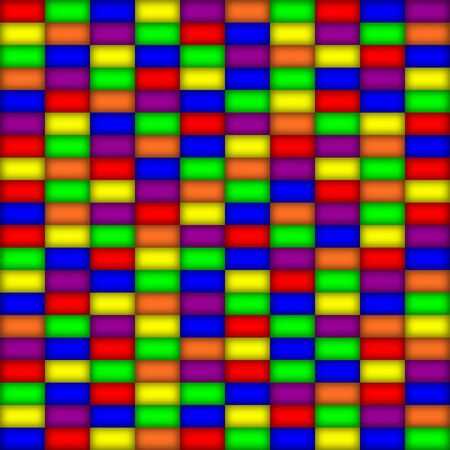 tileable: Glowing rectangles in primary colors, seamlessly tileable