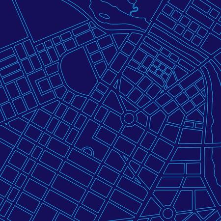 Blue digital map of a generic urban city Banque d'images