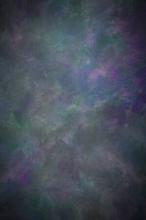 Green and purple oil paint faux-finish textured background