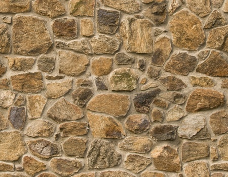 stone wall: Brown masonry rock wall seamlessly tileable