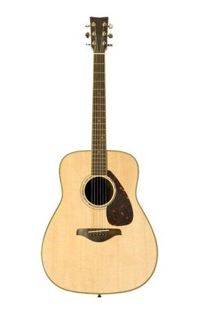 acoustic guitar against white background Banco de Imagens