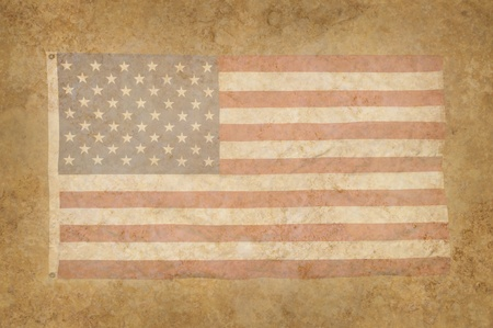 Grungy American Flag within a mottled background texture