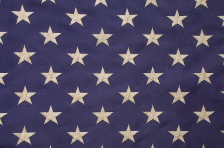 stitching: Embroidered white stars on a field of blue which represents the union on the American flag