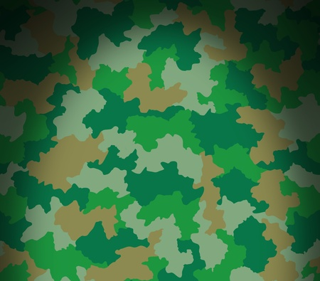 Green camouflage surface pattern lit dramatically from above
