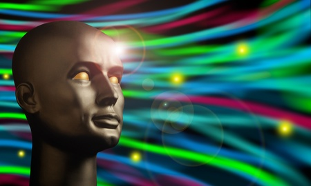 continuum: Android head watching swirling colors