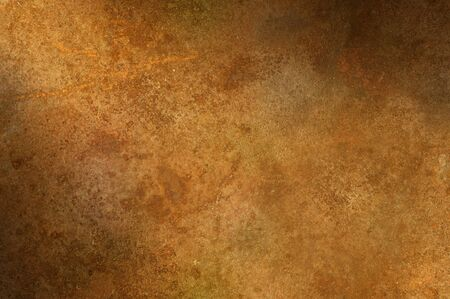 oxidized: Grungy distressed rusty surface texture lit diagonally