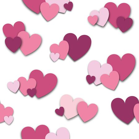 ピンクと紫の心愛の象徴