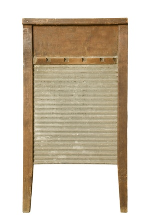 Antique washboard against white