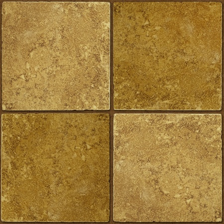 two tone: Four ceramic two-tone greenish brown stone tiles seamlessly tileable