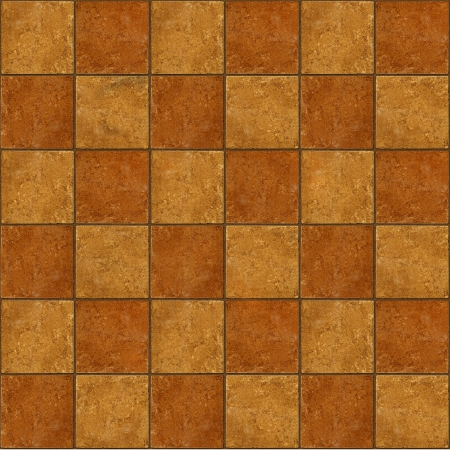 Thirty-six ceramic two-tone brown stone tiles seamlessly tileable