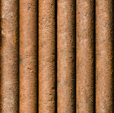 Vertical rusty pipe background texture seamlessly tileable