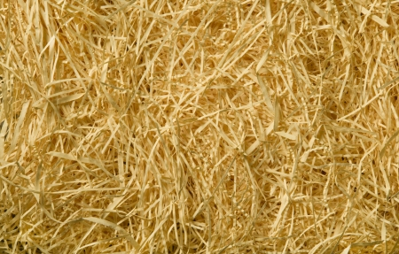 Yellow packing straw material background texture